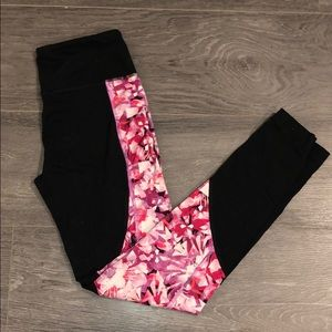 Champion Blk/Pink High Rise Workout Leggings